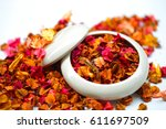Potpourri On A White Background
