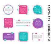 quote box vector set on a white ... | Shutterstock .eps vector #611702591