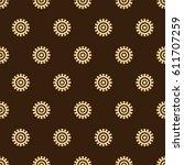 adinkra west african symbols... | Shutterstock .eps vector #611707259