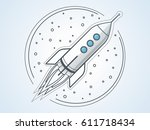 rocket outline | Shutterstock .eps vector #611718434