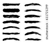 paint stripe set isolated on... | Shutterstock .eps vector #611721299