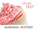 Cupcake With Swirls Of Creamy...