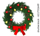 3d rendering christmas crown... | Shutterstock . vector #611731649