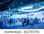 abstract blur exhibition hall... | Shutterstock . vector #611731751
