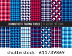 red  white  blue and navy... | Shutterstock .eps vector #611739869