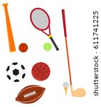 vector illustration of sports... | Shutterstock .eps vector #611741225