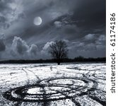 winter moonlit night | Shutterstock . vector #61174186