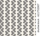 seamless pattern with stripes.... | Shutterstock .eps vector #611752007