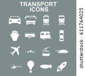 transportation icons. vector... | Shutterstock .eps vector #611764025