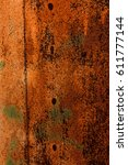 rusty and worn metal surface... | Shutterstock . vector #611777144