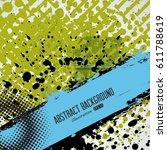 vector halftone dots pattern .... | Shutterstock .eps vector #611788619