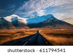 beautiful mountains with... | Shutterstock . vector #611794541