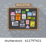various tear off papers ad on... | Shutterstock .eps vector #611797421