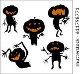 jack o lantern | Shutterstock . vector #611798771