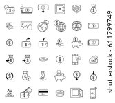 simple icons set related to... | Shutterstock .eps vector #611799749