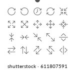 arrows ui pixel perfect well... | Shutterstock .eps vector #611807591