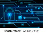 abstract technology concept cy... | Shutterstock .eps vector #611810519