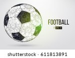 silhouette of a football ball.... | Shutterstock .eps vector #611813891