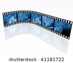 film roll with blue pictures ... | Shutterstock . vector #61181722
