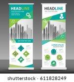 roll up business brochure flyer ... | Shutterstock .eps vector #611828249