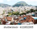 aerial view of botafogo... | Shutterstock . vector #611832305