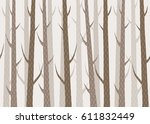 vector seamless cute forest... | Shutterstock .eps vector #611832449