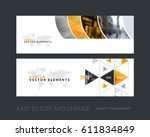 vector set of modern horizontal ... | Shutterstock .eps vector #611834849