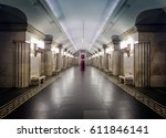 moscow may 2 2016  one of the... | Shutterstock . vector #611846141