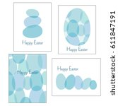 blue easter egg graphics | Shutterstock .eps vector #611847191