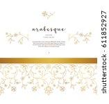 vector vintage decor  ornate... | Shutterstock .eps vector #611852927
