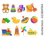 kids toys | Shutterstock .eps vector #611864564