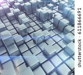 abstract background of cubes in ... | Shutterstock . vector #611866691
