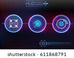 abstract background with... | Shutterstock .eps vector #611868791