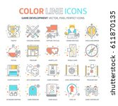 color line  game design... | Shutterstock .eps vector #611870135