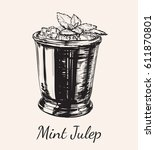 cocktail mint julep for the... | Shutterstock .eps vector #611870801