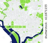 vector map of the city of... | Shutterstock .eps vector #611871155