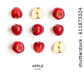 Seamless pattern with apples....