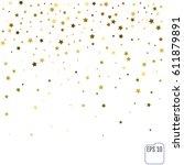 gold star confetti rain festive ...   Shutterstock .eps vector #611879891