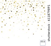 Gold Star Confetti Rain Festiv...