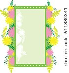 frame rectangular with abstract ...