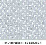 vector seamless pattern. cute... | Shutterstock .eps vector #611883827