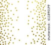 gold glitter background polka... | Shutterstock .eps vector #611890199