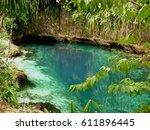 hinatuan enchanted river ... | Shutterstock . vector #611896445