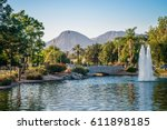 a scenic municipal park in... | Shutterstock . vector #611898185