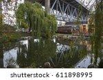 entrance to granville island... | Shutterstock . vector #611898995