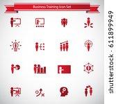 business training icon set | Shutterstock .eps vector #611899949