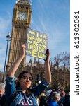 london  uk. 25th march 2017.... | Shutterstock . vector #611902061