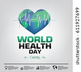 world health day campaign logo... | Shutterstock .eps vector #611927699