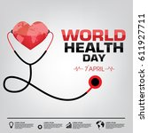 world health day campaign logo... | Shutterstock .eps vector #611927711