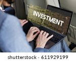 investment business venture... | Shutterstock . vector #611929199
